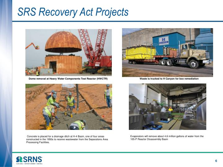 SRS Recovery Act Projects