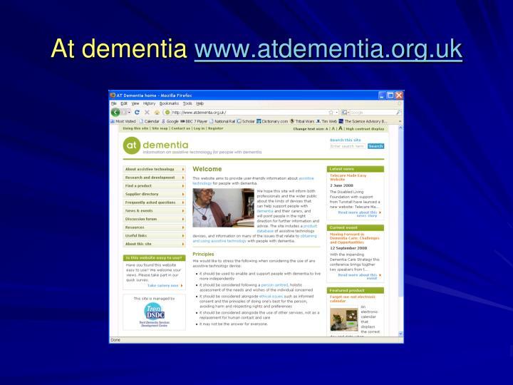 At dementia