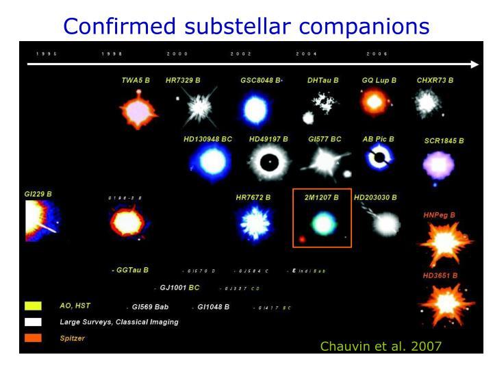 Confirmed substellar companions