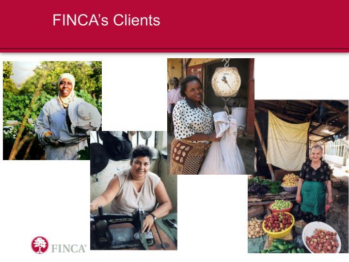 FINCA's Clients