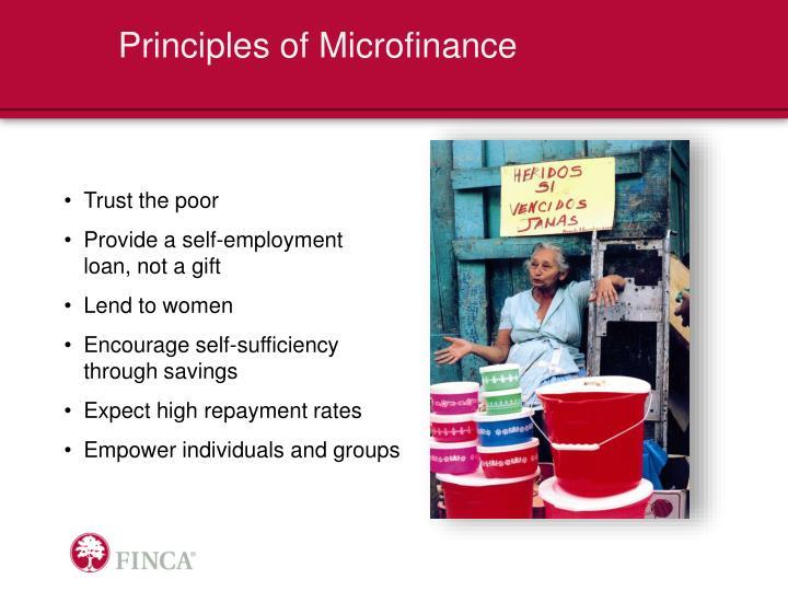 Principles of Microfinance