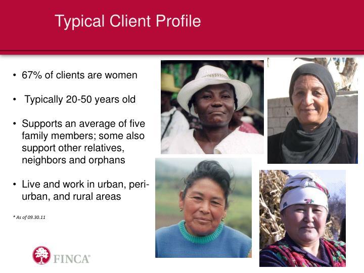 Typical Client Profile