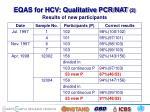 eqas for hcv qualitative pcr nat 2