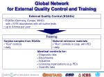 global network for external quality control and training