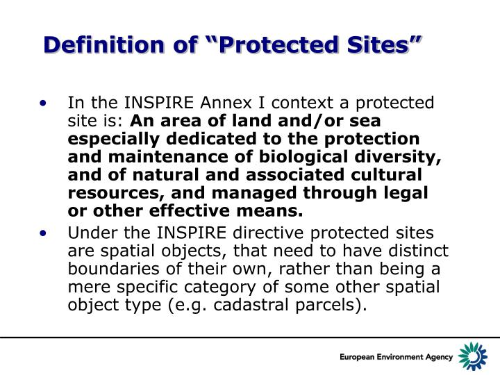 """Definition of """"Protected Sites"""""""