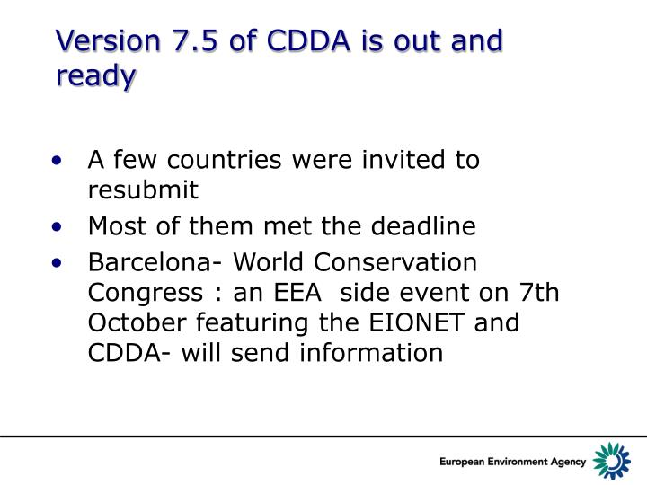 Version 7.5 of CDDA is out and ready