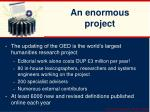 an enormous project