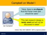 campbell on model i