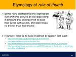 etymology of rule of thumb