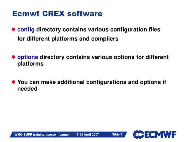 Ecmwf CREX software