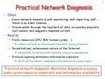 practical network diagnosis