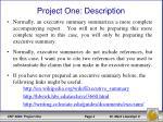 project one description1