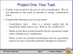 project one your task