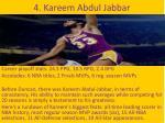 4 kareem abdul jabbar