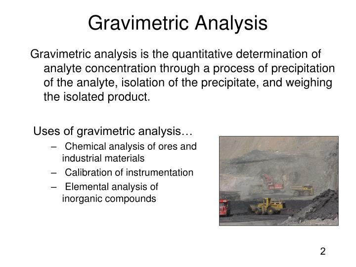 Gravimetric analysis1
