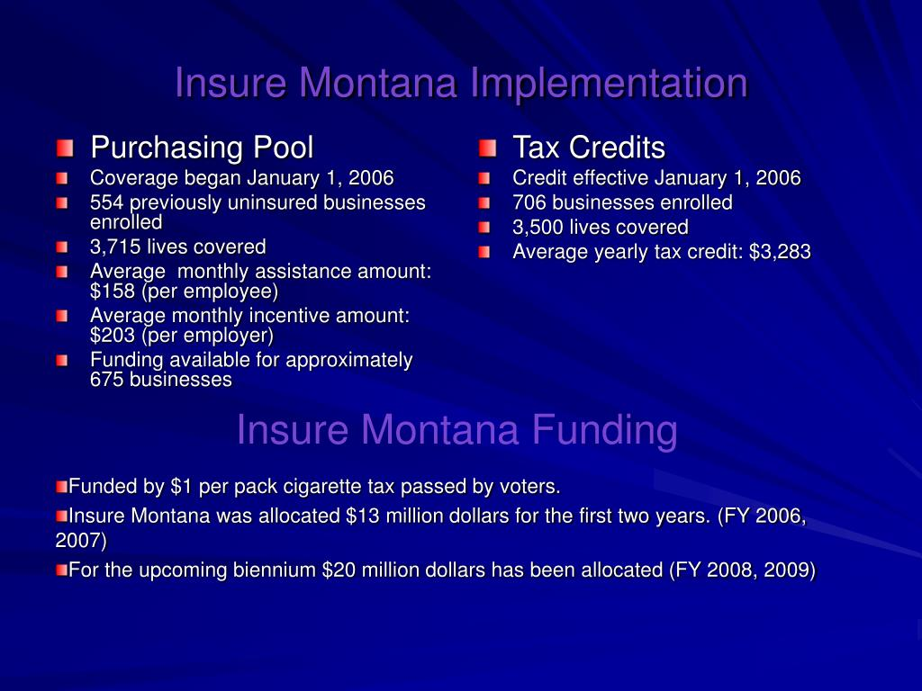 PPT - Insure Montana Small Business Health Insurance ...