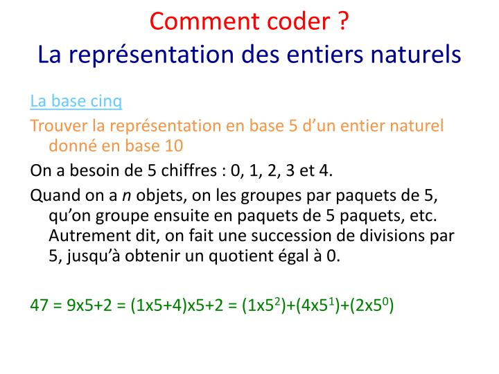 Comment coder ?