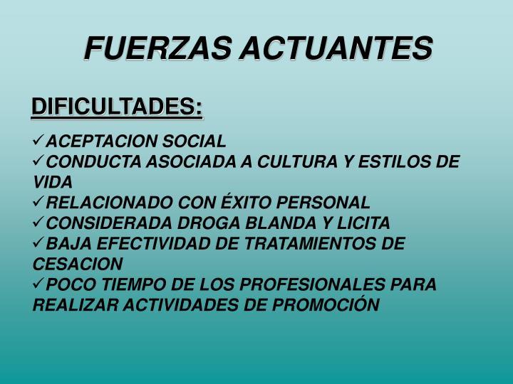 FUERZAS ACTUANTES