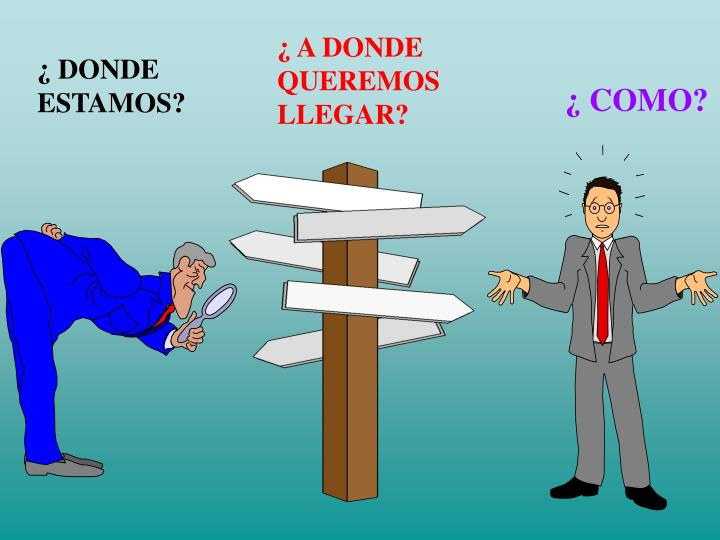 ¿ A DONDE