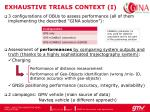 exhaustive trials context i