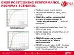 gnss positioning performance highway scenario
