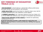 key findings of exhaustive trials 3 4