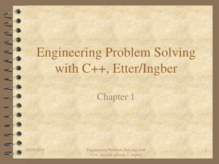 engineering problem solving with c etter ingber