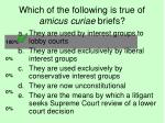 which of the following is true of amicus curiae briefs