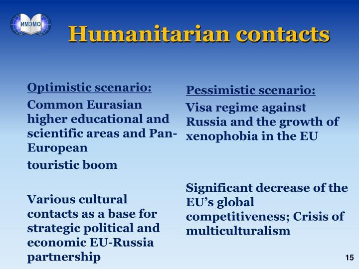 Humanitarian contacts
