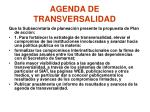 agenda de transversalidad1