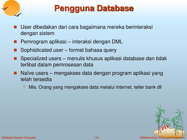 Pengguna Database