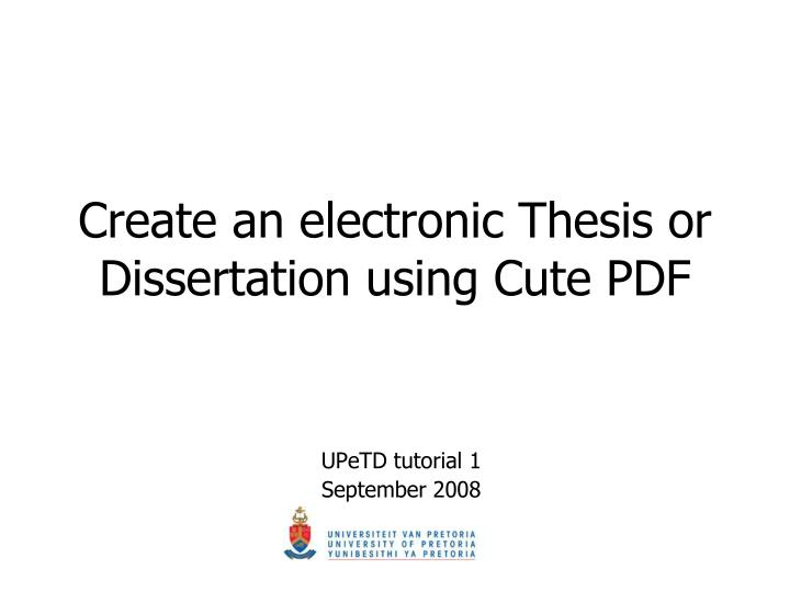 Phd thesis electronics