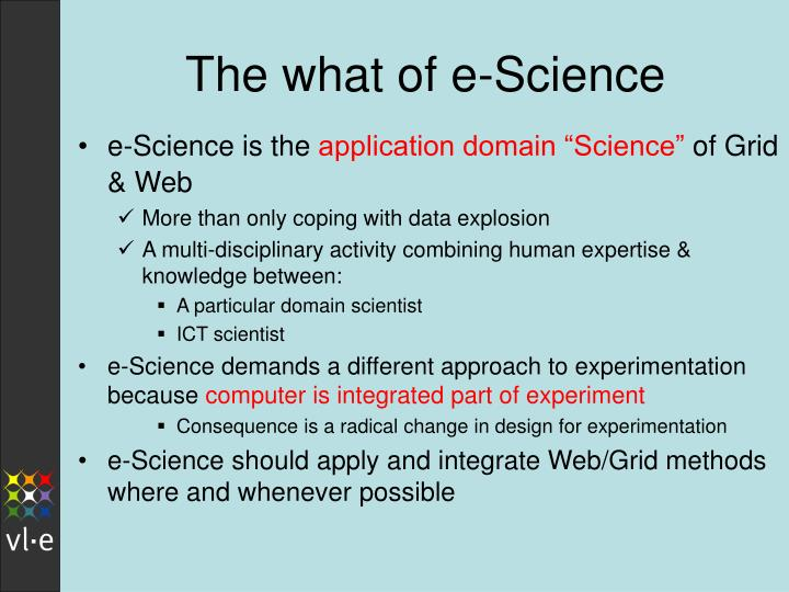 The what of e-Science