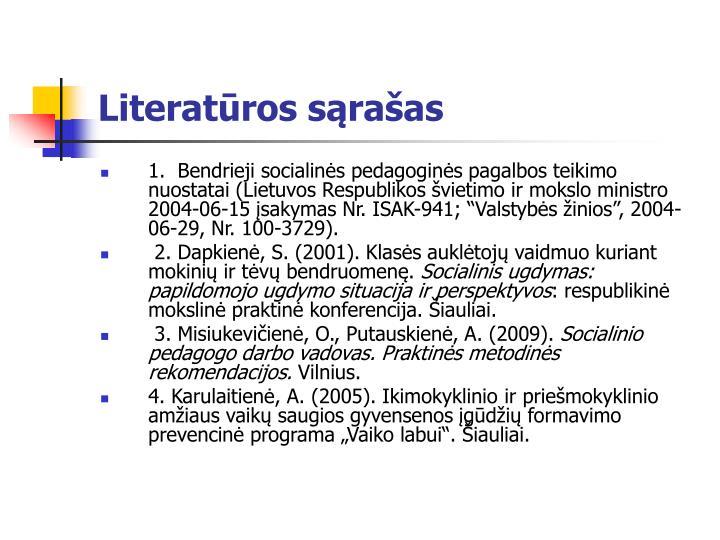 Literatūros sąrašas