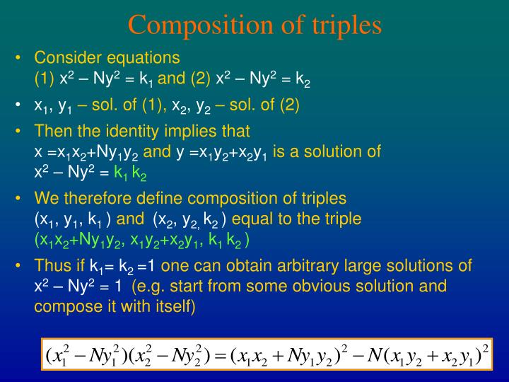 Composition of triples