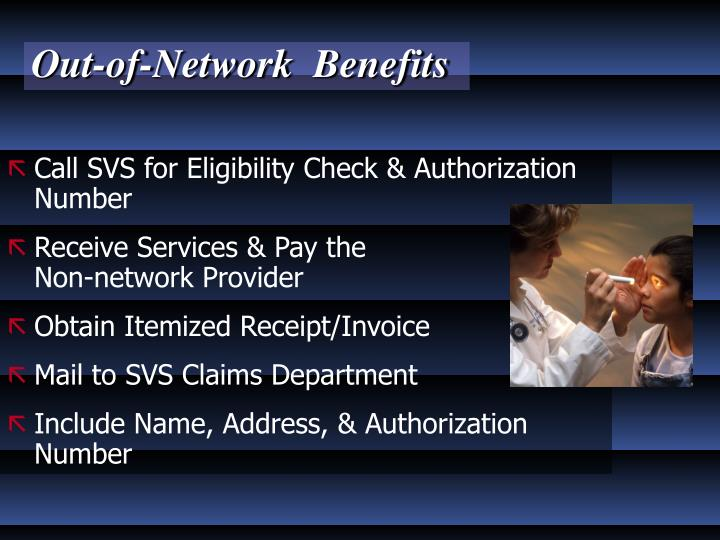Out-of-Network  Benefits