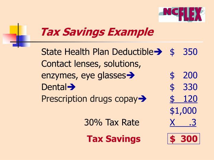 Tax Savings Example
