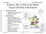 problem 802 15 wg letter ballot typical lb tally resolution