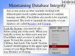 maintaining database integrity