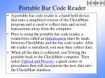 portable bar code reader