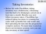 taking inventories