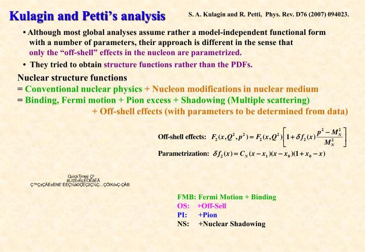 Kulagin and Petti