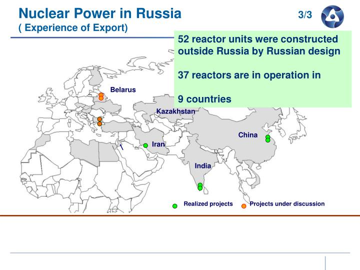 Deployment of Russian Nuclear Technology