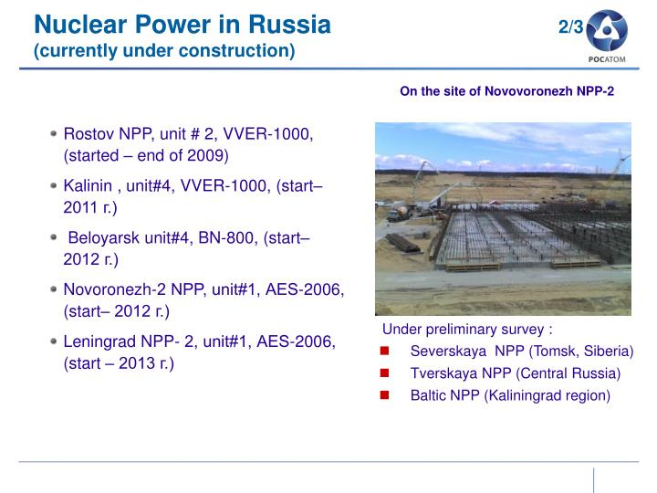 Nuclear Power in Russia