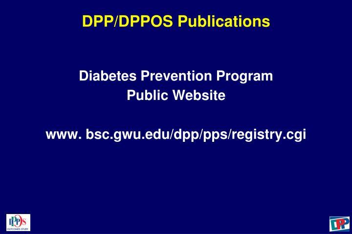 DPP/DPPOS Publications