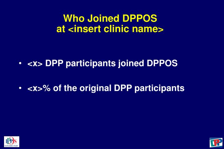 Who Joined DPPOS