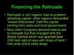 financing the railroads1