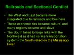 railroads and sectional conflict1