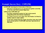 example success story coplink