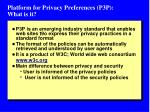 platform for privacy preferences p3p what is it